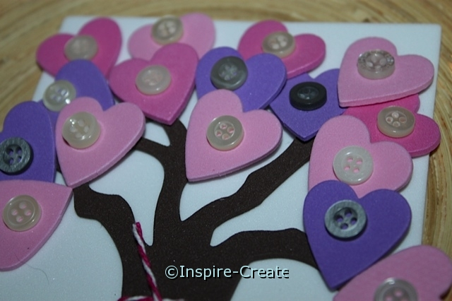 add buttons to heart shapes on tree