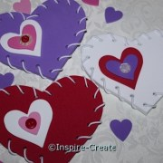 heart shapes with buttons