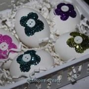 Glitter Easter Eggs in a Basket