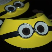 how to make yellow visors for minion party