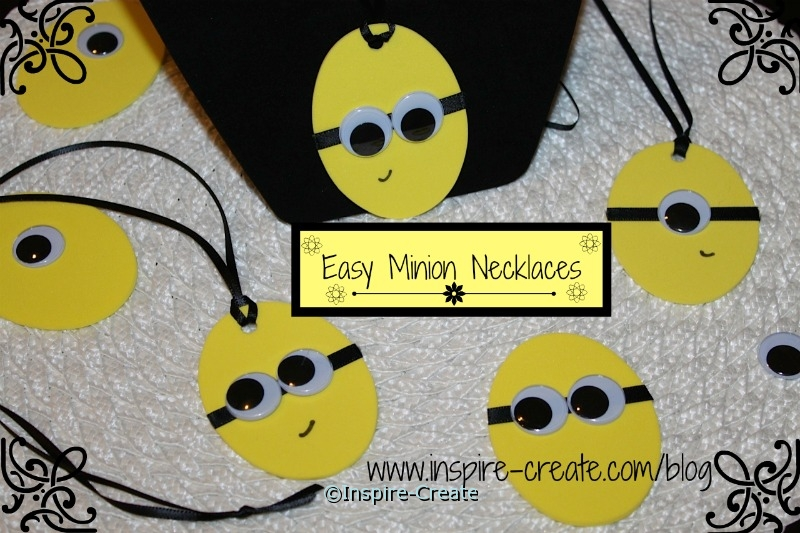 easy minion necklaces... great party idea