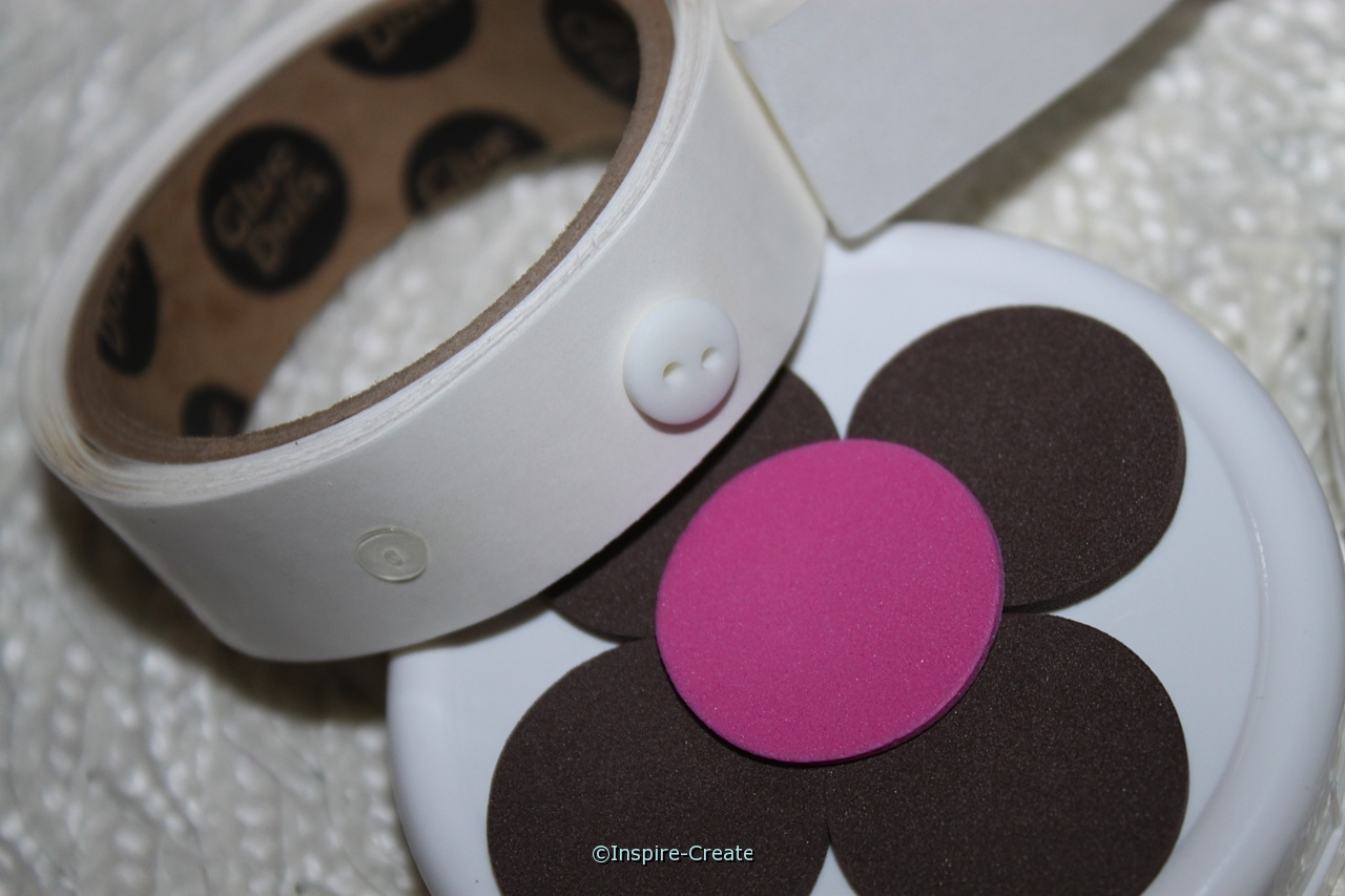 add buttons with mini glue dots