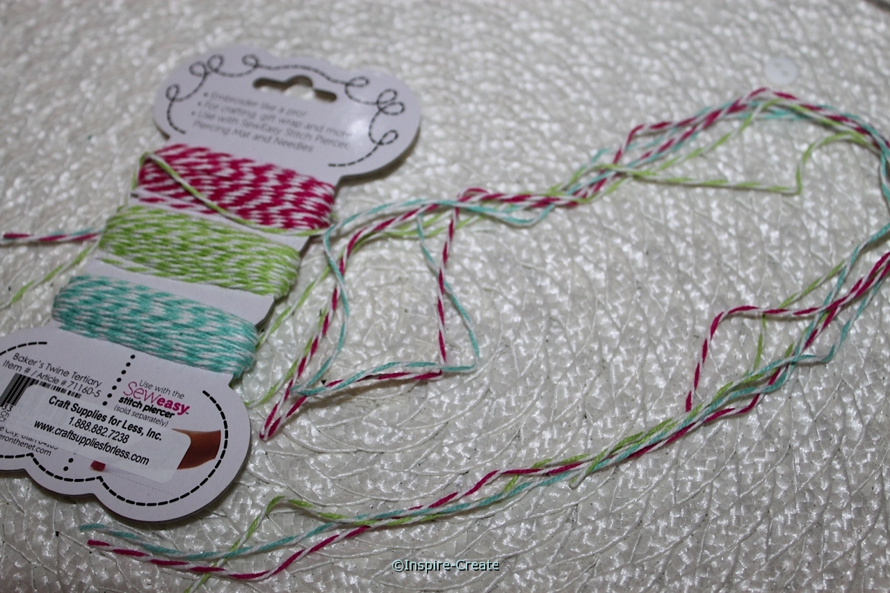 bakers twine for wrapping mason jars
