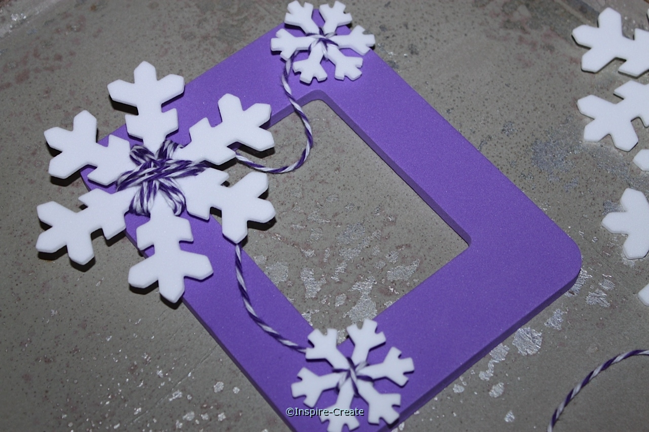 snowflake picture frame for frozen party