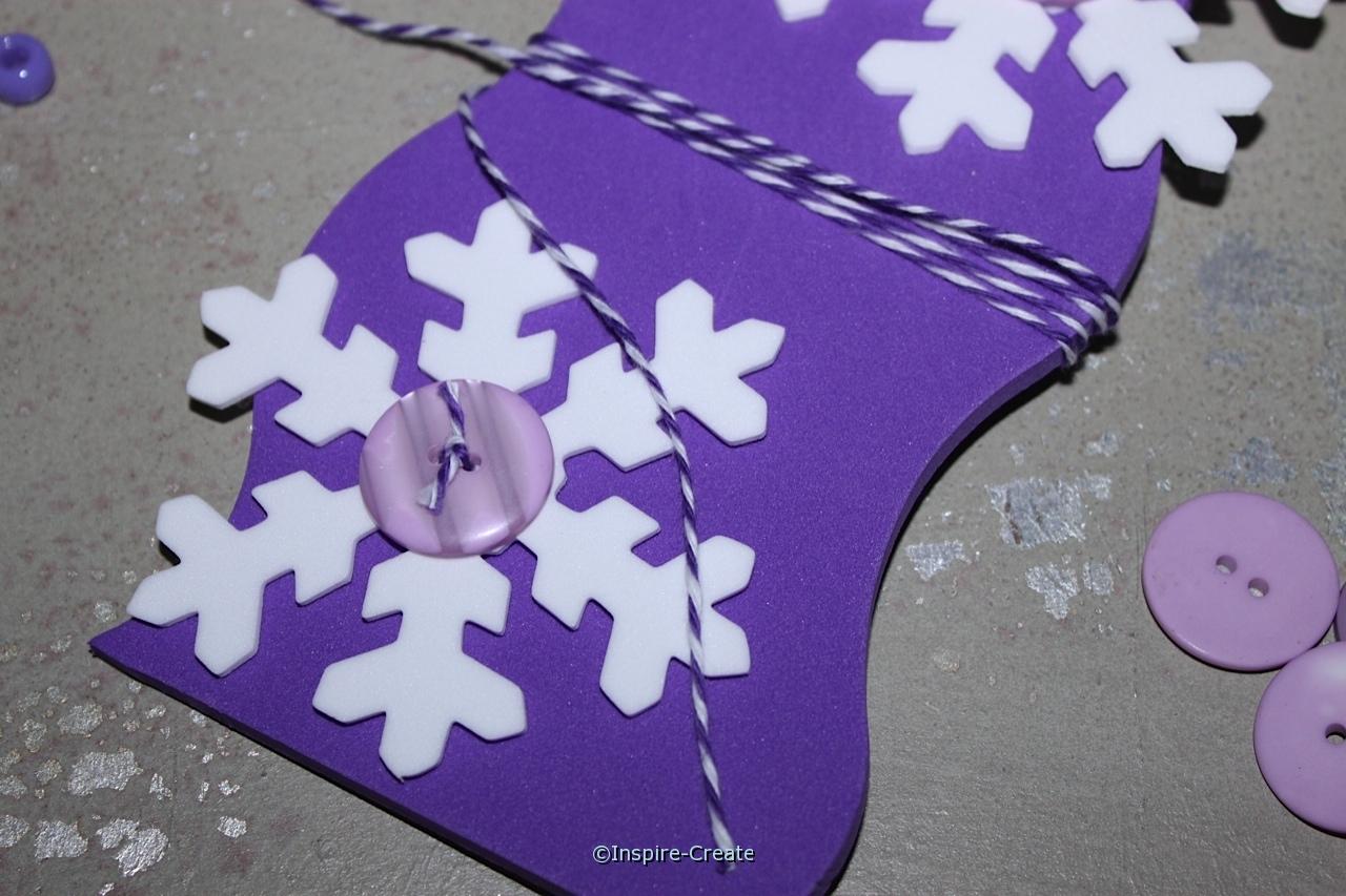 wrap bakers cotton around door hanger