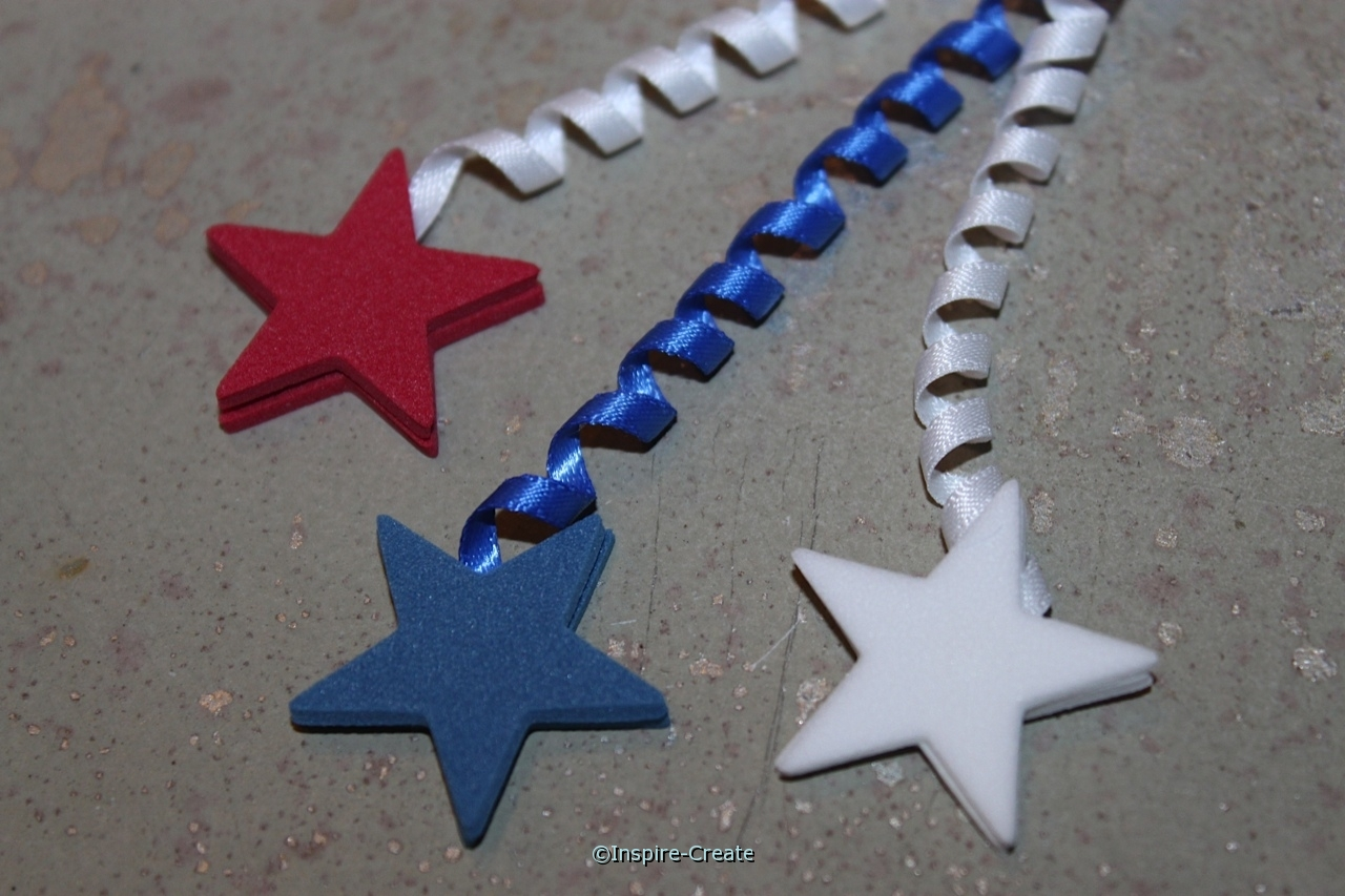 curly ribbon and stars