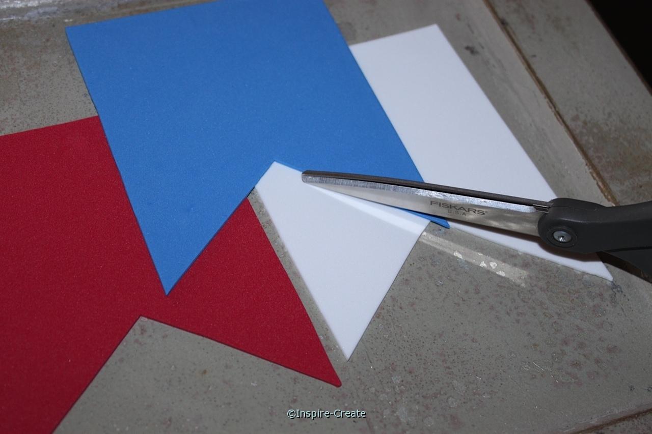 cut craft foam for an easy USA banner