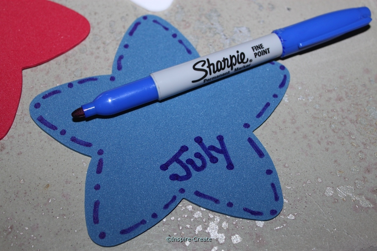 Outline Craft Foam Stars with Sharpie Markers