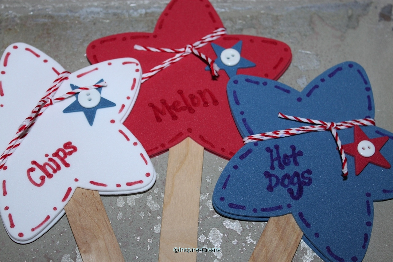 Easy to make 4th of July Food Markers