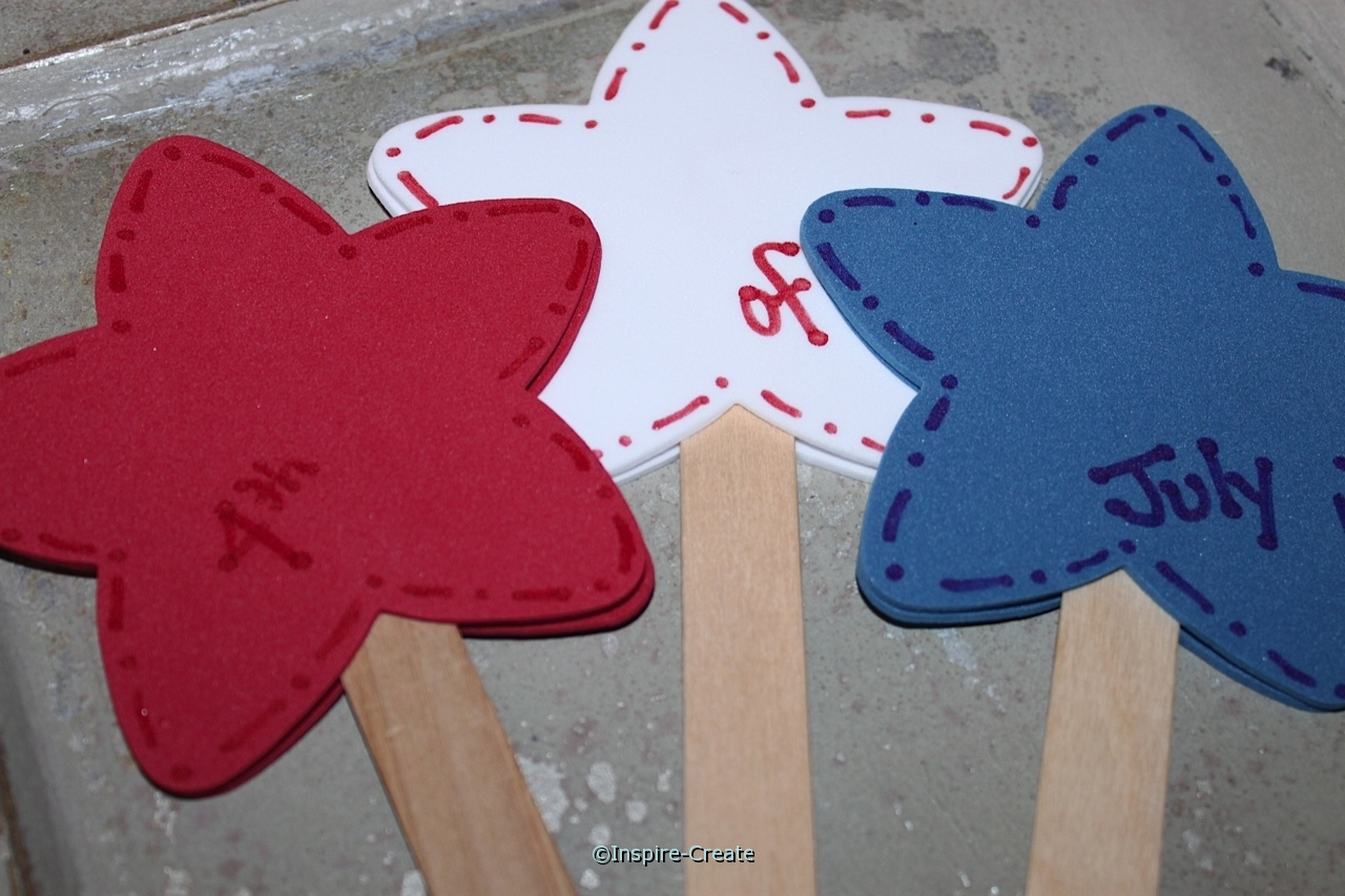 4th of July Stars on a Stick