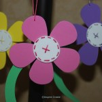 easy to make hanging flowers