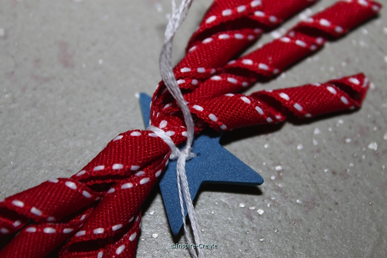 tie embroidery floss to ribbon