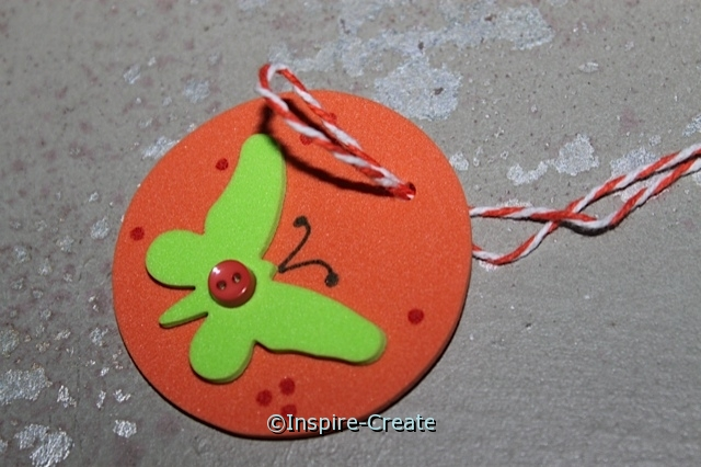 Hole Punch Foam and add Baker's Cotton to make easy Necklaces!