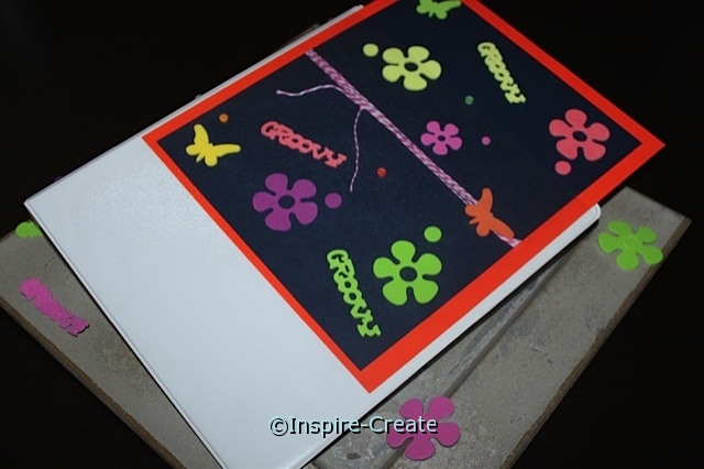 Easy Binder Made with Cardstock and Foam Stickers