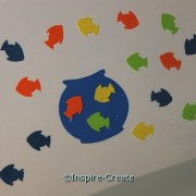 Craft Foam Fish for bath time