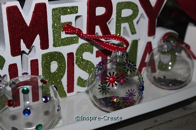 How to make sparkle ornaments. These are so easy and make great gifts!