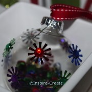 DIY: Christmas Ornaments with Glass Balls, Sequins, and Jewels