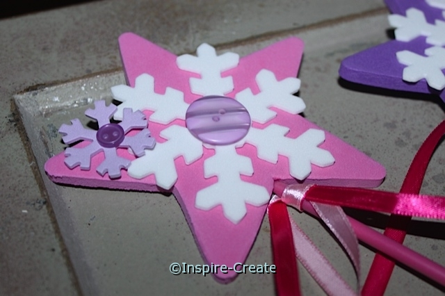 Princess Wands with Snowflakes!  Great for Frozen Parties and Crafts.
