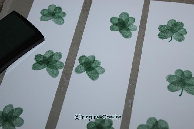 Fingerprint Shamrock Bookmarks