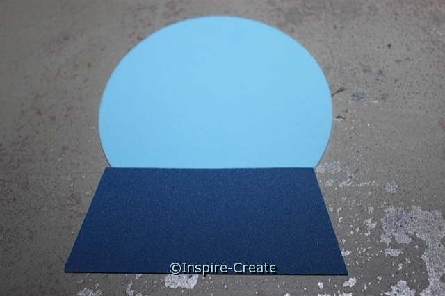 "Attach 4"" Foam Circle to base for snow globe craft."