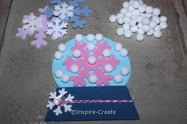 Supplies needed for Cute Craft Foam Snow Globes!