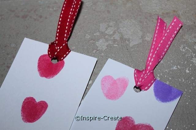 Easy to Make Fingerprint Heart Bookmarks