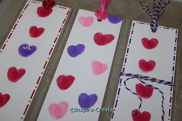 Easy Heart Bookmarks that kids can make. Only a few inexpensive craft supplies needed.