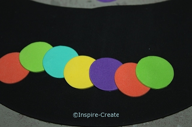 Caterpillar Visor Craft for Kids...  attach circle stickers!