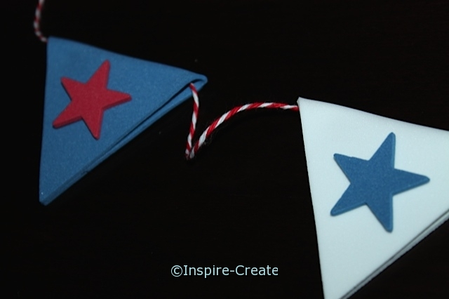 Simple Pennant Flags for the 4th of July