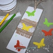 How to Make Butterfly Bookmarks. Creative and inexpensive! Great group craft idea.