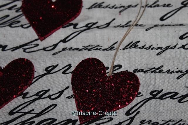 Easy to Make Hanging Glitter Hearts
