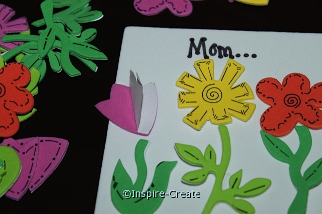 Flower Magnet for Mom... Peel & Stick Flowers to Craft Foam
