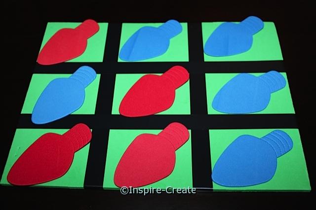Christmas Tic Tac Toe Game Idea