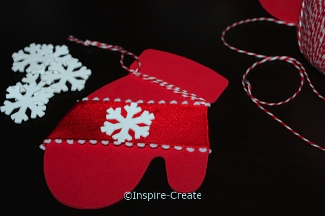 Easy Red Mitten Ornament Craft for Kids