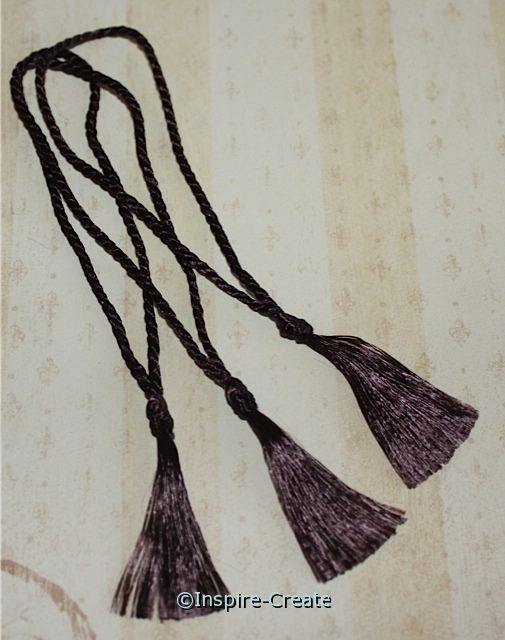 Bookmark Tassels Chocolate Brown (50)*