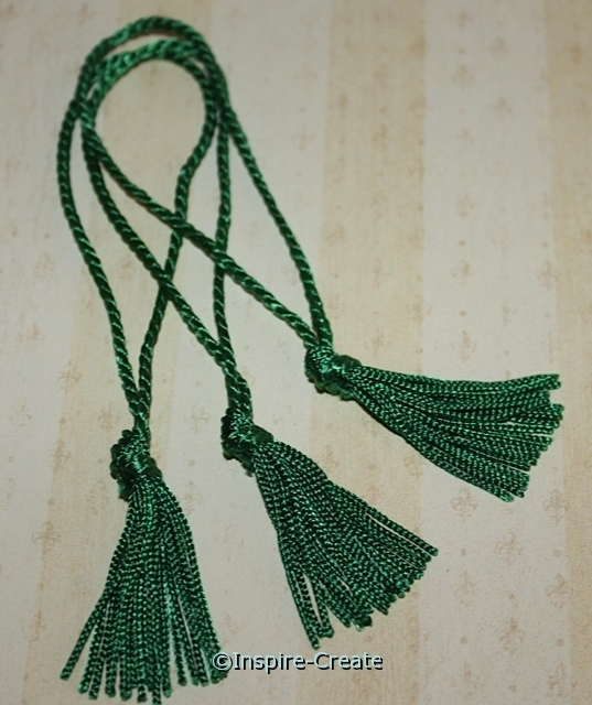 Kelly Green Chainette Bookmark Tassels (50)*