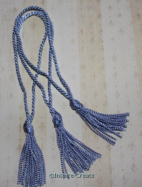 Light Blue Chainette Bookmark Tassels (50)*