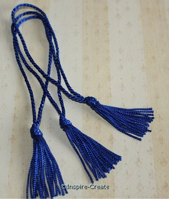 Royal Blue Chainette Bookmark Tassels (50)*
