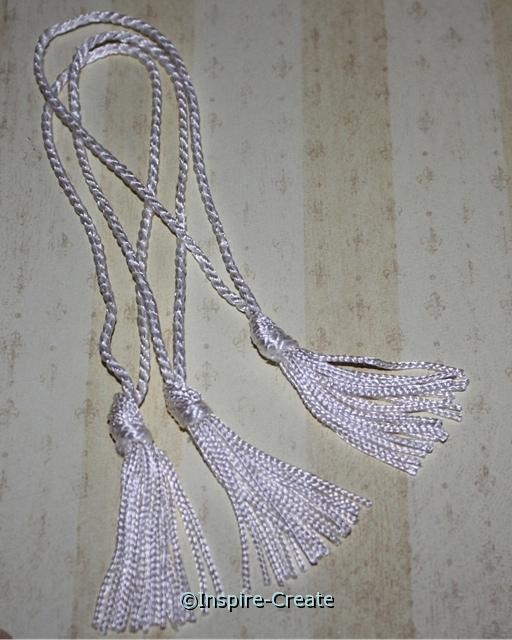 White Chainette Bookmark Tassels (50)*