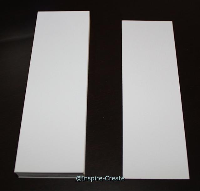 Square Top White Bookmark Inserts (50)*