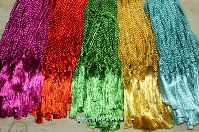 Assorted Tropical Bookmark Tassels (50)*