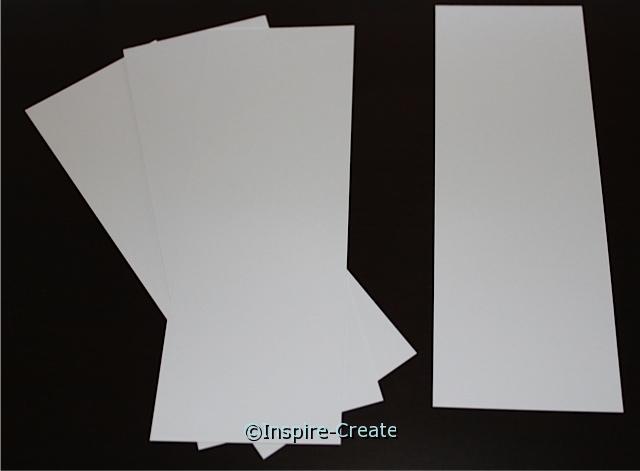 Large White Bookmark Inserts (50)*