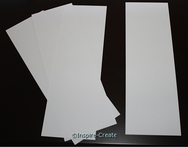 Medium White Bookmark Inserts (50)*