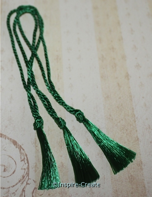 Bookmark Tassels Kelly Green (50)*