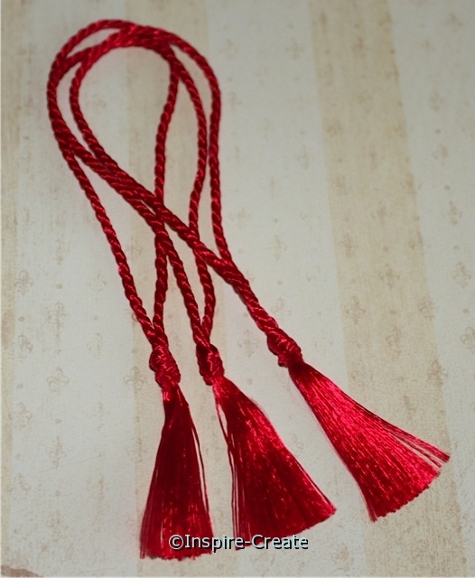 Bookmark Tassels Red (50)*