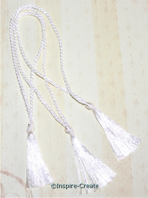 Bookmark Tassels White (50)*