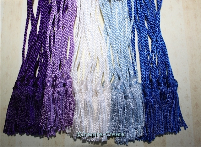 Blue and Purple Chainette Bookmark Tassels (50)*
