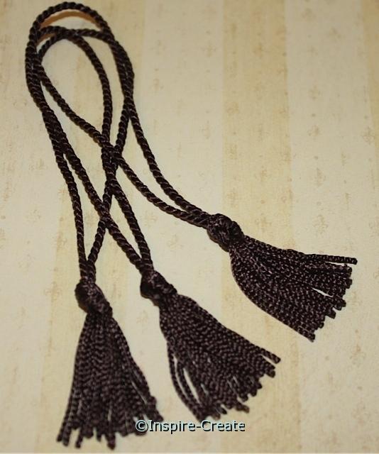 Brown Chainette Bookmark Tassels (50)*
