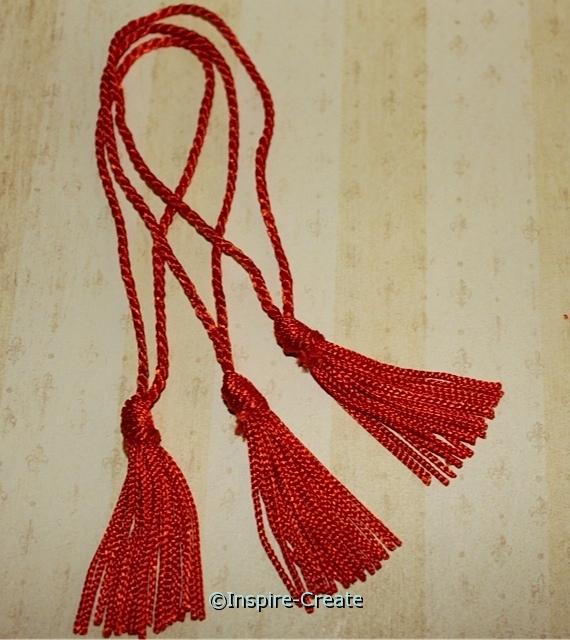 Orange Chainette Bookmark Orange Tassels (50)*