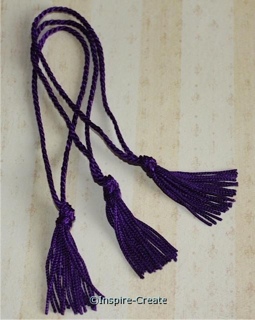 Purple Chainette Bookmark Tassels (50)*
